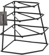 CookSpace ® Corner 4 Tier Heavy Duty Black Plate Holder Stand / Plate Storage Rack, Space Saver