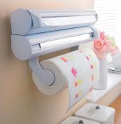 Kitchen Foil Cling Film Paper Towel Wall Dispenser Tidy Organiser