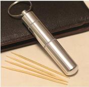 Mcdslrgo Portable Cool Novelty Toothpick box/Stainless Steel Pocket Toothpick Holder