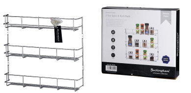 Buckingham 4-Tier Spice and Herb Rack, Silver