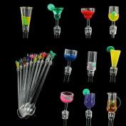 10X Plastic Cocktail Stirrers Swizzle Stir Sticks Drink BBQ Dinner Party Bar