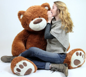 Big Plush Giant Teddy Bear Five Feet Tall Cinnamon Brown Colour Soft Smiling Big Teddybear 1.5m Bear