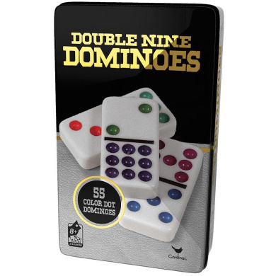 Double 9 Dominoes in Tin by Cardinal