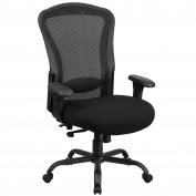 Hercules 24/7 Intensive Use Multi-shift Big and Tall Black Mesh Multi-functional Swivel Chair with Synchro-tilt