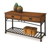 Home Styles 5050-22 Modern Craftsman Sofa Table, Distressed Oak Finish