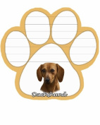 Red Dachshund Dog Paw Magnetic Note Pads