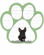 Scottie Dog Paw Magnetic Note Pads