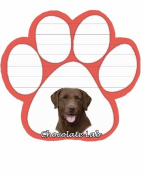 Chocolate Labrador Dog Paw Magnetic Note Pads