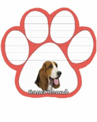 Basset Hound Dog Paw Magnetic Note Pads