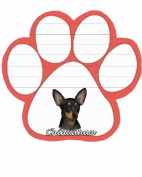 Black Chihahua Dog Paw Magnetic Note Pads