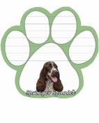 Springer Spaniel Dog Paw Magnetic Note Pads
