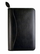 Day-Timer Bonded Leather Binder And Starter Set, 9.5cm x 17cm , Black