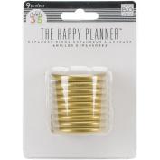 Create 365 Planner Expander Rings 9/Pkg-Gold
