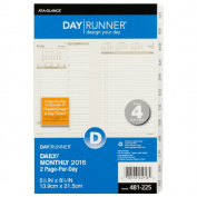 Recycled Two-Page-Per-Day Planning Pages, 5-1/2 X 8-1/2,, 2014