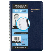 AT-A-GLANCE Daily Appointment Book / Planner 2016, 12 Months, 12cm x 20cm Page Size, Navy