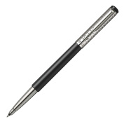 Parker Vector Rollerball Pen, Black Stainless Steel Chiselled