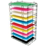 Bazic Products 20050 60cm . X 80cm . 10-Slots Foam-Poster Board Display Rack