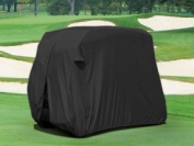 Durable Two Person Golf Cart Cover Black GCC-F98-B