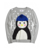 Justice Girls Fuzzy Penguin Knit Sweater 603 20