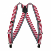 Welch Mens Elastic Clip-End American Flag Trucker Suspenders, American Flag