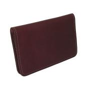 CTM® Unisex Leather Top Stub Chequebook Cover, Burgundy