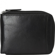 Mancini Leather Goods Men's RFID Zippered Wallet with Removable Passcase