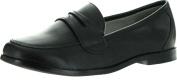 Venettini Boys 55-Mark Slip On Casual Loafers,Black Leather,28