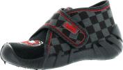 Befado Boys Freddy Velcro Slippers - Made In Europe,Black/Grey/Red,20
