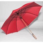 Elite Rain Umbrella Wooden Shaft Golf Umbrella - Red