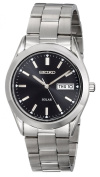 Seiko Watch, Men's Solar Stainless Steel Bracelet 37mm SNE039