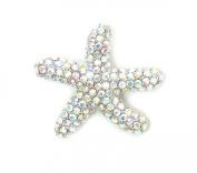 Clear Ab Rhinestone Crystal Starfish Pin Brooch G353