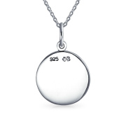 Bling Jewellery Sterling Silver Zodiac Sign Leo Pendant Necklace 41cm