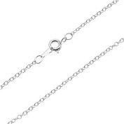 Silver Plated Fine Cable Chain Necklace - 2x1.8mm Links 16 Inches Long