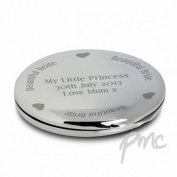 Beautiful Bride Compact Mirror Personalised Beauty . Present Gift Make-Up