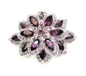 Gorgeous Amethyst Colour Purple Chunky Brooch Pin Pendant C323