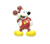 Stunning Red Crystal Mickey Mouse Pin Brooch C595