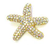 Clear Ab Rhinestone Crystal Starfish Pin Brooch C523