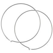 Sterling Silver Earrings Beading Hoops 1.2 Inch / 30mm