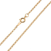 22K Gold Plated Fine Rolo Chain Necklace - 2mm Diameter Links 18 Inches Long