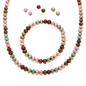 Honora Rainforest Freshwater Pearl Set in Sterling Silver