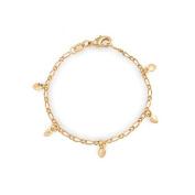 Bling Jewellery Gold Filled Girls Children Baby Heart Charm Bracelet 13cm