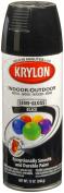 Krylon 51603 Semi-Gloss Black Interior and Exterior Decorator Paint - 350ml Aerosol