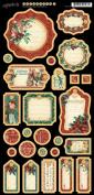 A Christmas Carol Chipboard Die-Cuts 15cm x 30cm Sheet-Journaling