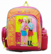 Small Backpack - Barbie - w/ Water Bottle - Flower Rainbow New Bag 15997