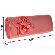 Wocharm (TM) Womens Satin Rose Bouquet Pattern dinner banquet bag Wedding Party Prom Evening Clutch Bag Handbag