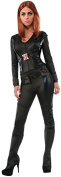 Rubies Costumes Women's Captain America The Winter Soldier Secret Wishes Widow Adult Costume, Large(12-14), Black, 1 ea