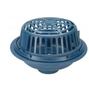 Zurn Wilkins ZC100-6NH Roof Drain Cast Iron Dome, 7.6cm Threaded Side Outlet, No Hub Outlet