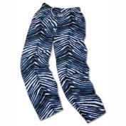 Carolina Panthers ZUBAZ Black Blue White Vintage Style Zebra Pants