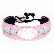Official NFL Leather Football Bracelet Pink Cancer Colour San Diego Chargers