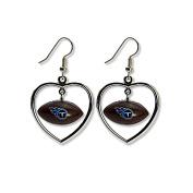 NFL Tennessee Titans Mini Football Heart Dangler Earrings